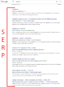 SERP Search Engine Result Page